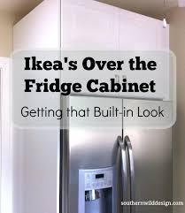 kitchen fridge cabinet over