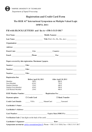 Registration And Credit Application Form Samples For You On Resume ...