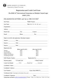 Registration And Credit Application Form Samples For You On Resume ...