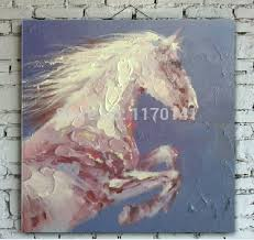modern paintings large canvas art abstract horse painting on canvas elegant white horse oil