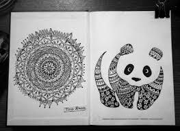 Cool Panda Designs Mandala Zentangle Art Drawing Ink Pen Panda Design