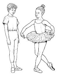 Sport Kleurplaat Ballet Jongen Meisje