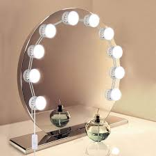 Makeup Mirror With Led Lights Us 22 99 20 Off Usb Powered Hollywood Makeup Mirror Vanity Led Light Bulbs Kit 5 Level Adjustable Brightness Make Up Light For Dressing Table In