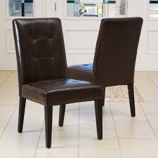 Dining Room Chairs Leather Parsons Leather Dining Room Chairs - Faux leather dining room chairs