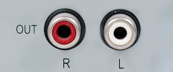 Image result for stereo RCA outputs