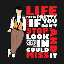 Life Moves Pretty Fast White Ferris Bueller Phone Case TeePublic Delectable Life Moves Pretty Fast