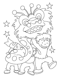 Small Picture Warm Chinese New Year Coloring Page Chinese New Year Dragon On