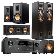 klipsch 5 1 surround sound. denon avr-x2300w 7.2 channel full 4k ultra hd bluetooth a/v receiver and klipsch 5.1 speaker package (black) 5 1 surround sound