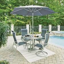 7 piece round outdoor patio dining set south beach