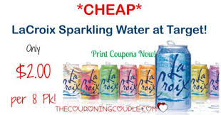 Sparkling Image Coupons Cheap Lacroix Sparkling Water Only 2 00 8 Pack With Target