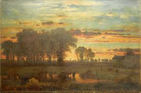 the george inness tonalist sunset oil painting
