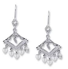 14k white gold filigree chandelier earrings ejer22901