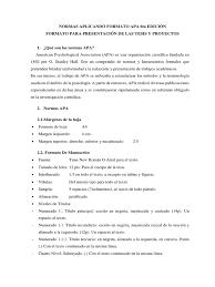 Normas Aplicando Formato Apa 6ta Edición