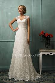 Illusion Cap Sleeves With Sweetheart Bodice All Over Lace Slim A