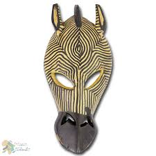 this small animal mask is a wonderful african wall decoration
