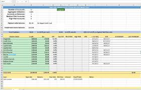 Credit Card Tracker Excel Credit Card Utilization Tracking Spreadsheet Credit Warriors