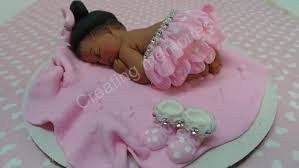 Fondant Baby Cake Topper Pink Tutu With A Little Bling Hand Etsy