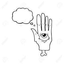 フリーハンド描画思想バブル漫画不気味な目手