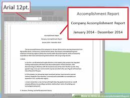 employee accomplishment report sample how to write an accomplishment report 15 steps with pictures