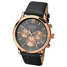 leather men s watches john lewis buy sekonda men s chronograph date leather strap watch online at johnlewis com