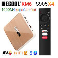 Mecool KM6 Google Certification ATV Android 10 Amlogic S905X4 Android TV BOX  10.0 WiFi 6 1000M BT5.0 2G16G 4GB 64GB Media Player|Set-top Boxes