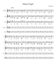 sheet music silent night silent night pentatonix sheet music for voice musescore