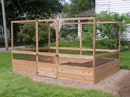 8 x12 vegetable garden kit deer proof assembled and filled with soil