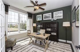 transitional home office with flush light hardwood floors cost plus world market campaign desk