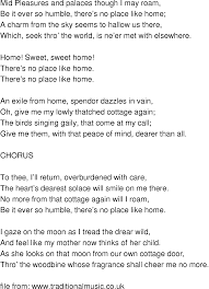 Old-Time Song Lyrics - Home Sweet Home