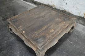 late 20th century vintage square opium leg coffee table for