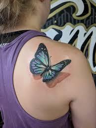 3d Butterfly Done By Juan At Virginia Class Tattoo Manassas Va