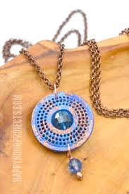 recycled k cup crafts diy gem necklace