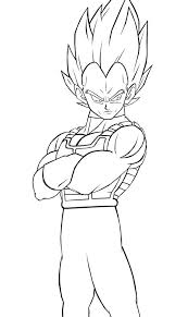 Super Vegeta Coloring Pages Murderthestout