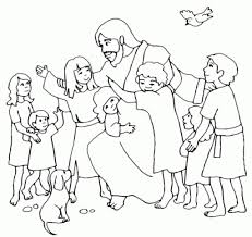 Jesus Loves The Little Children Coloring Pages Throughout And Page ...