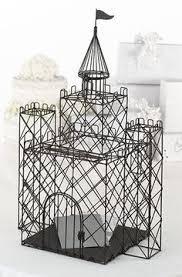 cinderella castle card holder wedding decorations pinterest Wedding Card Box Disney bella mera bridal boutique black metal castle card box mb516 (enchanted castle), wedding place card holders disney