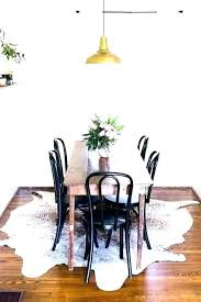 round rug under kitchen table rugs