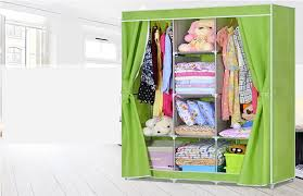 fresh large portable closet fh multiple color triple canva wardrobe hanging f h rail storage space bluetooth
