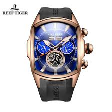 <b>Reef Tiger</b>/<b>Rt</b> Big <b>Sport</b> Watch <b>Men</b> Luminous Analog Tourbillon ...