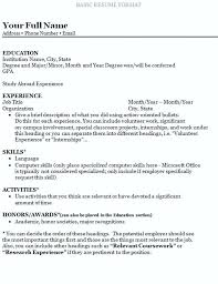 How To Write A College Resume How To Make A College Resume How To