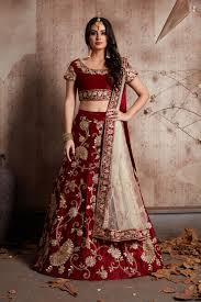 indian dress maroon color bridal lehenga 341m