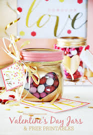 valentines day gift idea super cute heart jars and free printable at the36thavenue