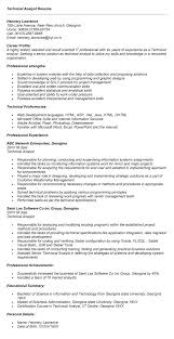 sample resume technical analyst resume sle technical analyst resume