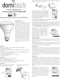 How To Reset Z Wave Light Switch Zbr30dl Z Wave Light Bulb User Manual Zbr30dl Manual