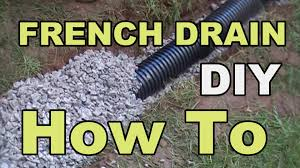 DIY FRENCH DRAIN PROJECT YouTube - Exterior drain pipe