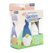 paint your own mini garden gnome craft