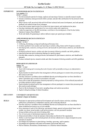 Statistician Resume Example Research Statistician Resume Samples Velvet Jobs 1