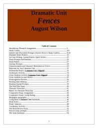 best wilson fences ideas fences by fences lesson plans unit plan wilson 54 pages