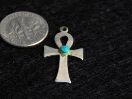 sterling silver ankh pendant