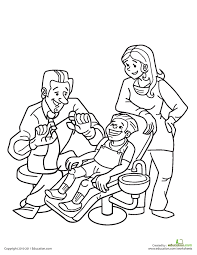 dentist visit coloring page 6 hygiene worksheets good and clean fun personal hygiene on www education com worksheets