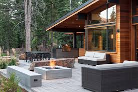 modern patio fire pit. Portable-outdoor-fire-pit-Patio-Contemporary-with-beige-outdoor -cushions-boulder-bench-Concrete-Bench-concrete-fire Modern Patio Fire Pit